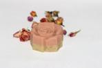 Málnaleveles-rózsaszín agyagos rózsa forma