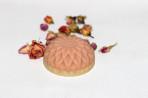 Málnaleveles-rózsaszín agyagos dália forma