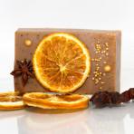 Kakaóvajas szappan narancs díszítéssel